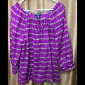 Lauren Ralph Lauren Purple Blouse